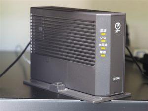 回線終端装置(ONU)の写真