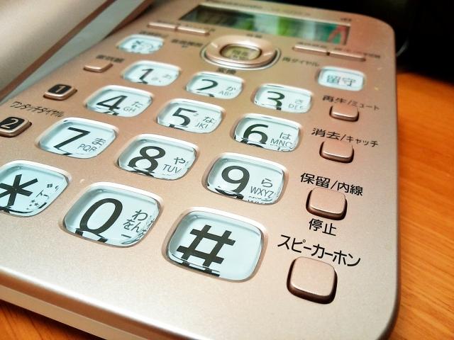 電話機の写真。