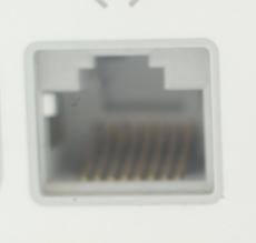 LANケーブル差込口の写真。