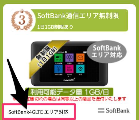 ソフトバンク4G対応のポケットWi-Fiがレンタルできる