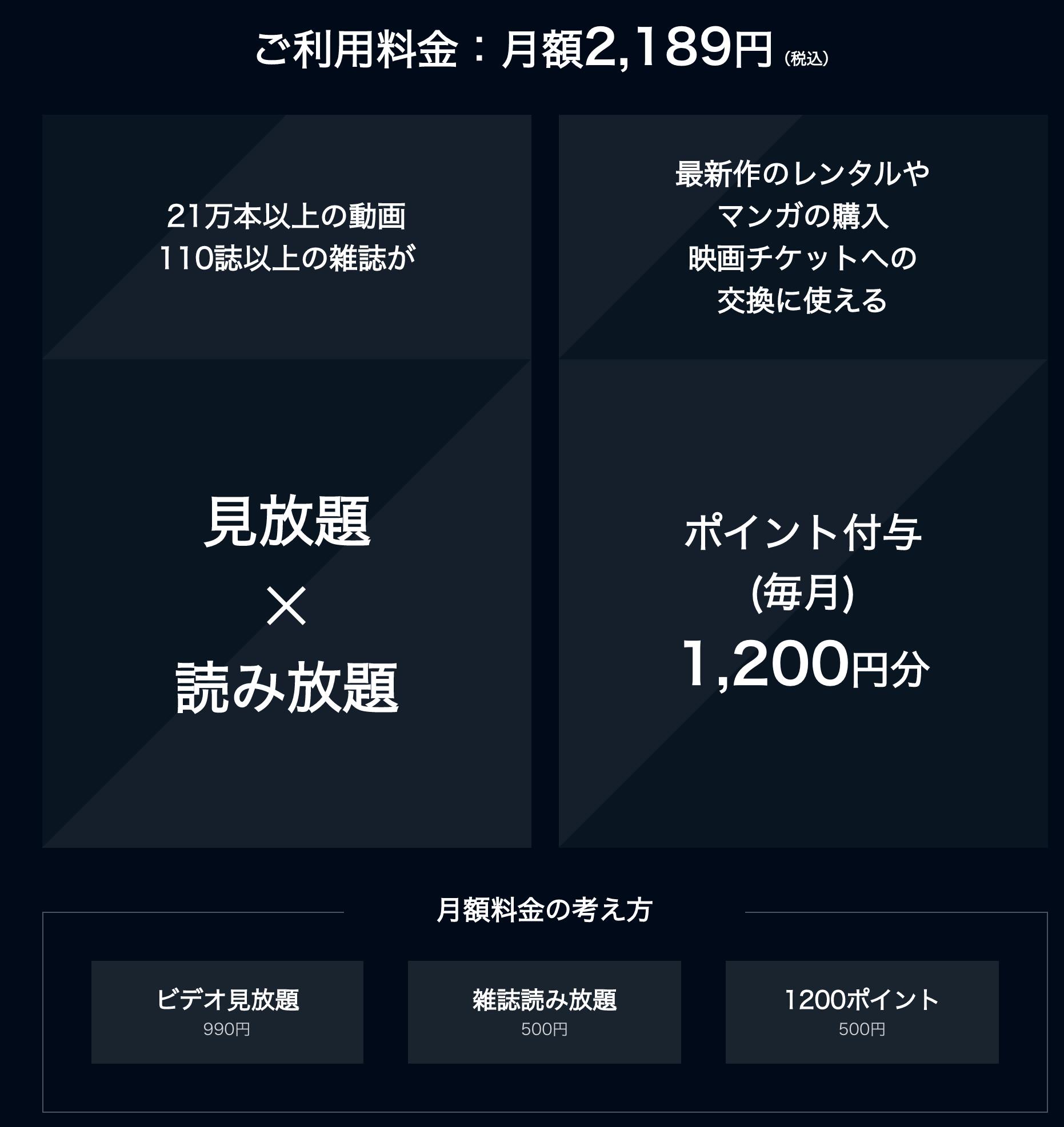 U-NEXT月額料金