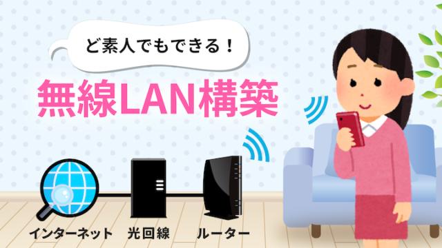 無線LAN構築の図