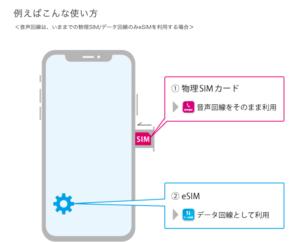 eSIMの活用例