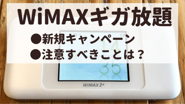 WiMAXキャンペーン