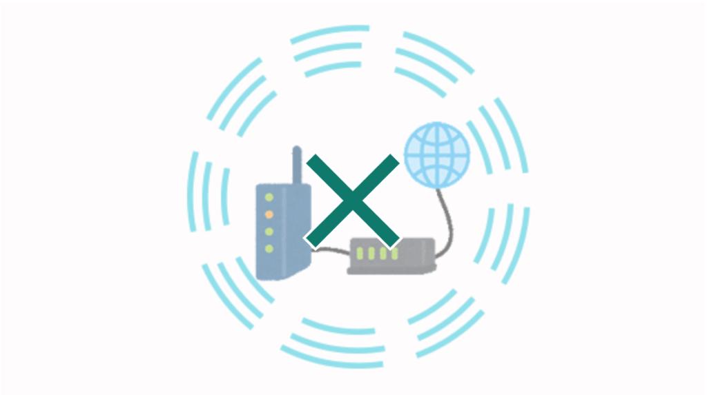 Wi-Fiは障害物があると繋がりにくくなる。